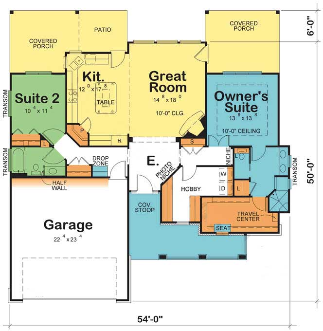 Main Floor Plan: 10-1797