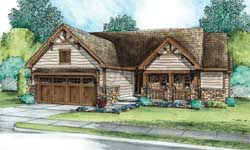 Craftsman Style Home Design Plan: 10-1797
