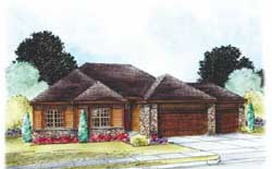 Traditional Style Home Design Plan: 10-1805