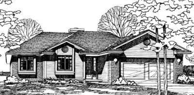 Traditional Style Home Design Plan: 10-181