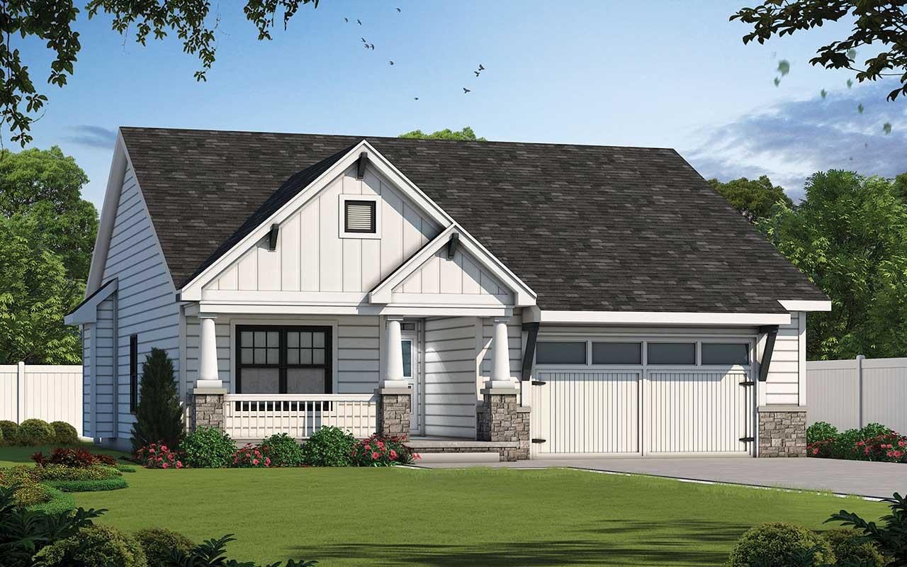Craftsman Style Home Design Plan: 10-1814