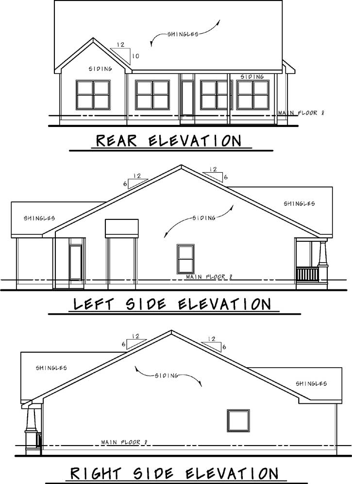 Rear Elevation Plan: 10-1814
