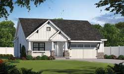 Craftsman Style Home Design Plan: 10-1814