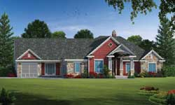Ranch Style Home Design Plan: 10-1824