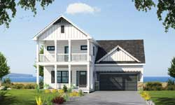 Coastal Style Home Design Plan: 10-1830