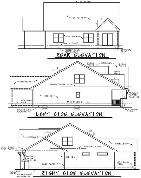 Rear Elevation Plan: 10-1833