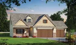 Craftsman Style Floor Plans Plan: 10-1833