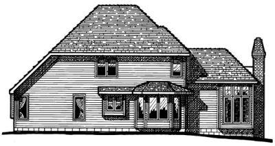 Rear Elevation Plan: 10-184