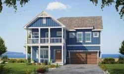 Coastal Style Floor Plans Plan: 10-1858