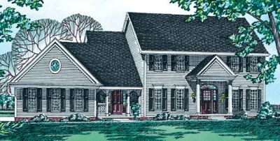 Early-american Style House Plans Plan: 10-186