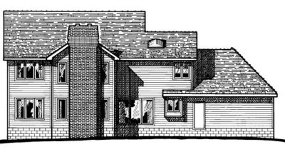 Rear Elevation Plan: 10-186