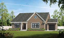 Traditional Style Home Design Plan: 10-1881
