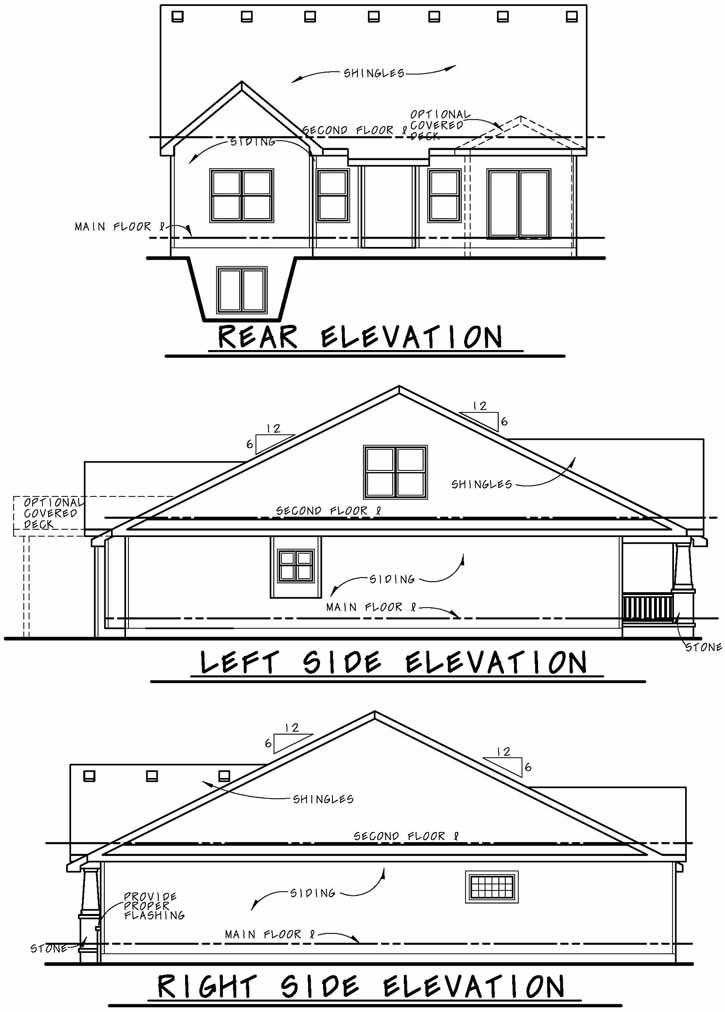 Rear Elevation Plan: 10-1889