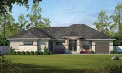Contemporary Style House Plans Plan: 10-1892