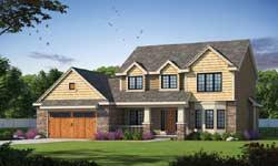 Craftsman Style Home Design Plan: 10-1893