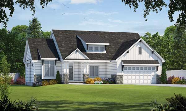 Modern-farmhouse Style House Plans Plan: 10-1894