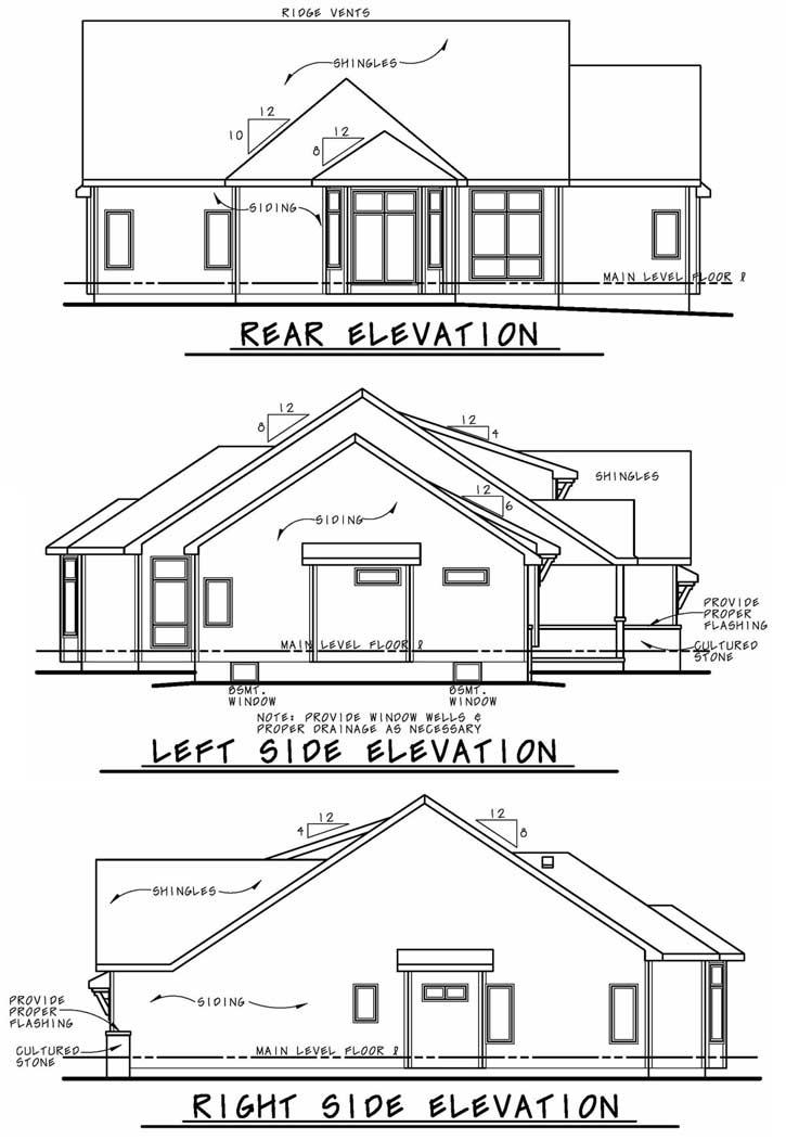 Rear Elevation Plan: 10-1894