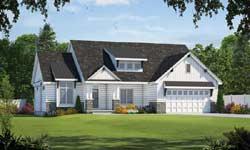 Modern-Farmhouse Style Home Design Plan: 10-1894