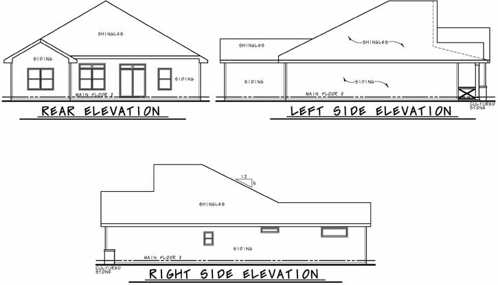 Rear Elevation Plan: 10-1895