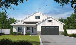 Modern-Farmhouse Style Home Design Plan: 10-1895