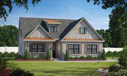 Country Style Home Design Plan: 10-1896