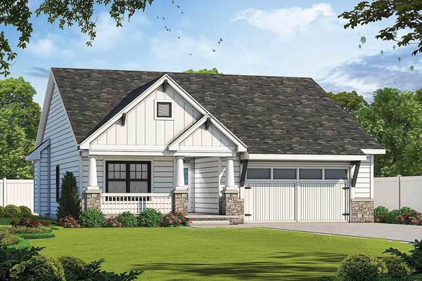 Craftsman Style Home Design 10-1899