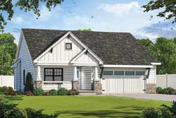Craftsman Style Home Design Plan: 10-1899