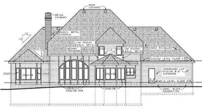 Rear Elevation Plan: 10-190