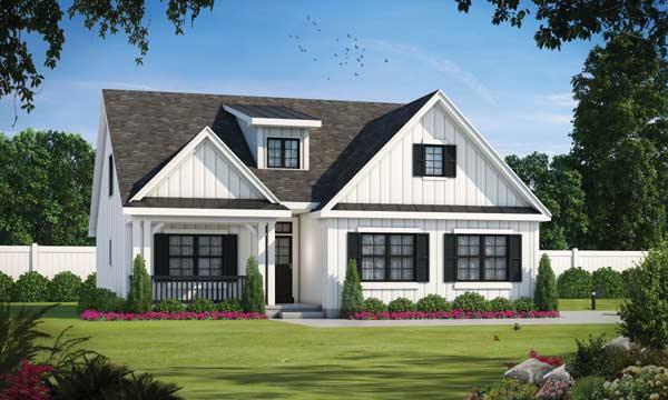 Modern-farmhouse Style Floor Plans Plan: 10-1901