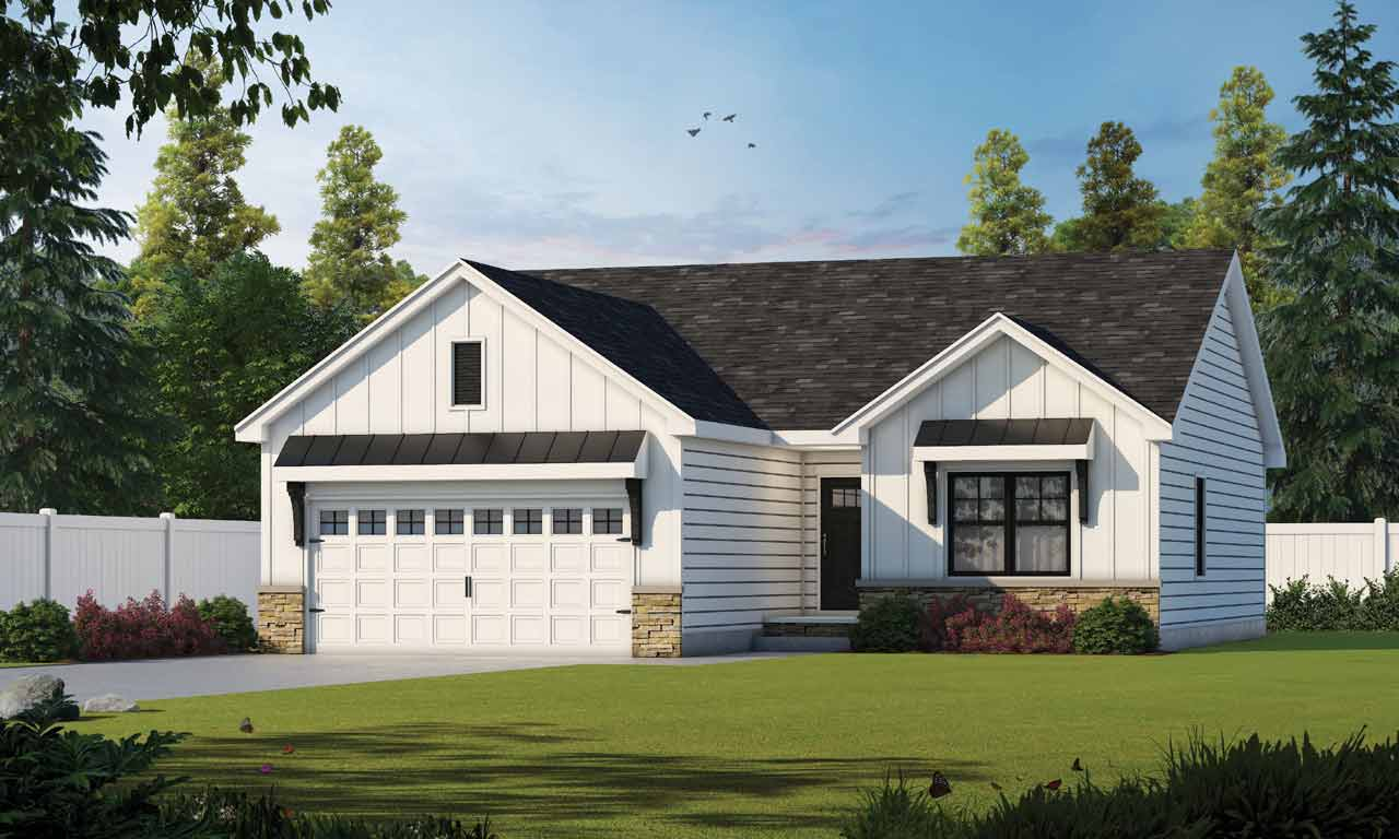 Modern-Farmhouse Style House Plans Plan: 10-1903