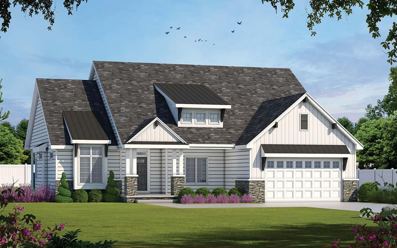 Modern-farmhouse Style Home Design Plan: 10-1904