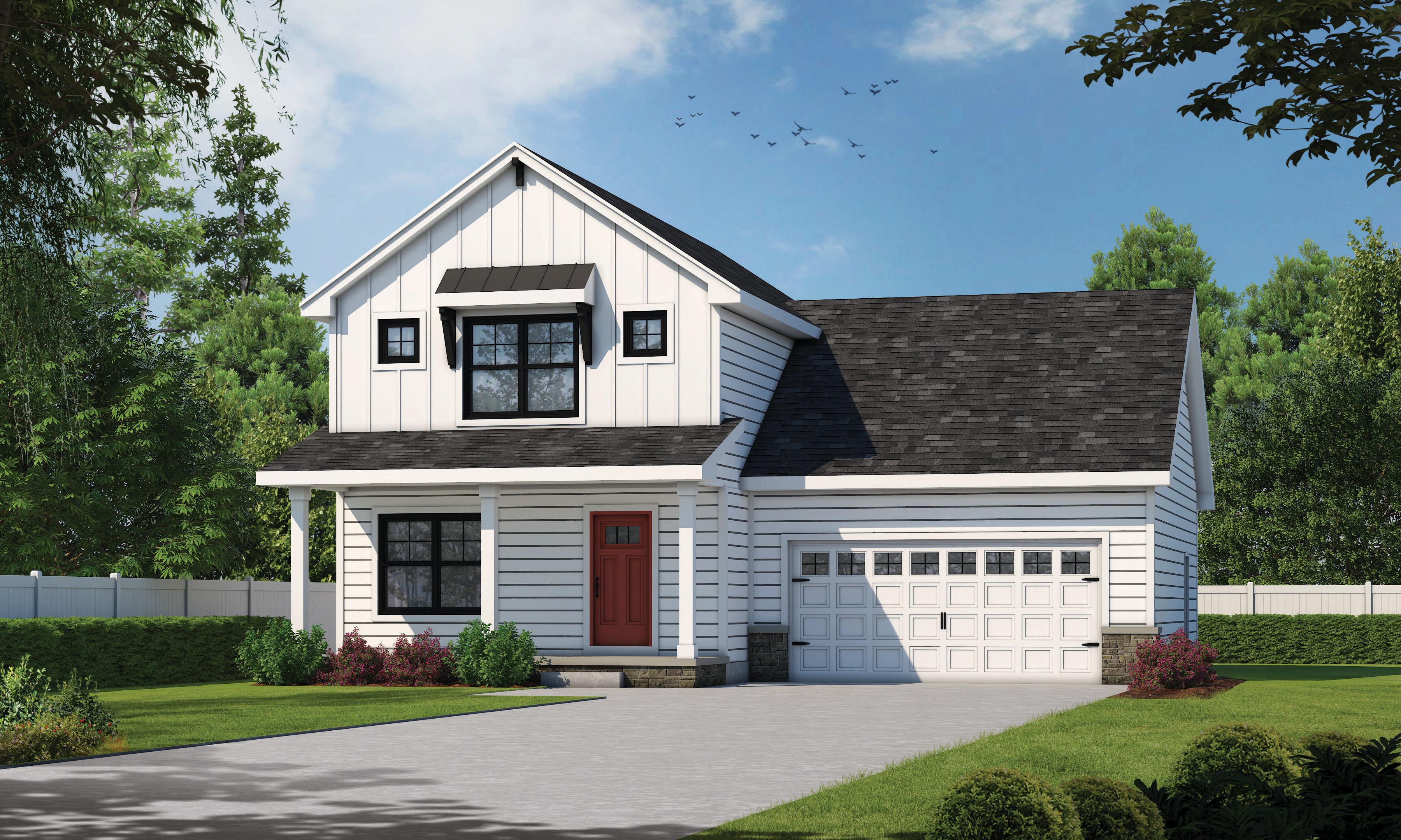 Modern-farmhouse Style Home Design Plan: 10-1908