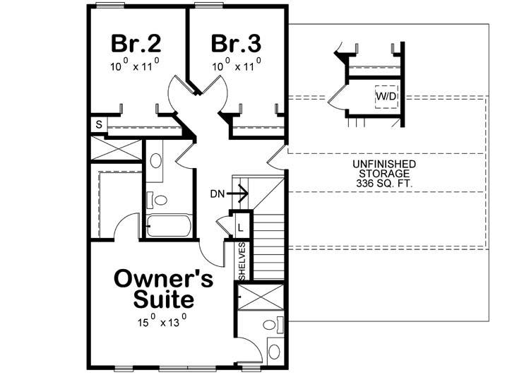 Upper/Second Floor Plan: 10-1908