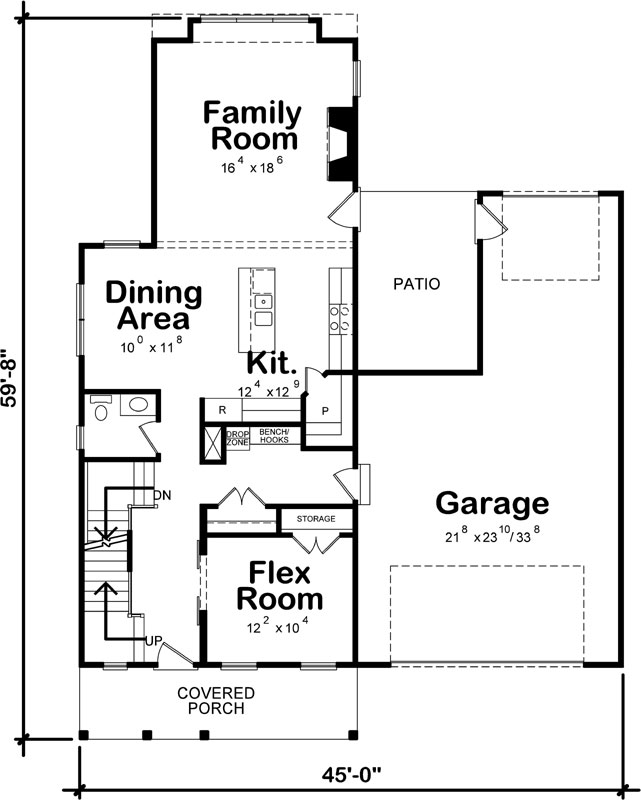 Main Floor Plan: 10-1916