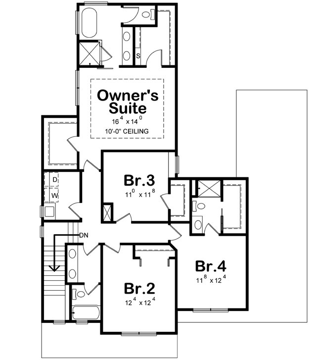 Upper/Second Floor Plan: 10-1916
