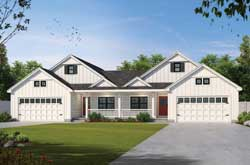 Modern-Farmhouse Style Home Design Plan: 10-1934