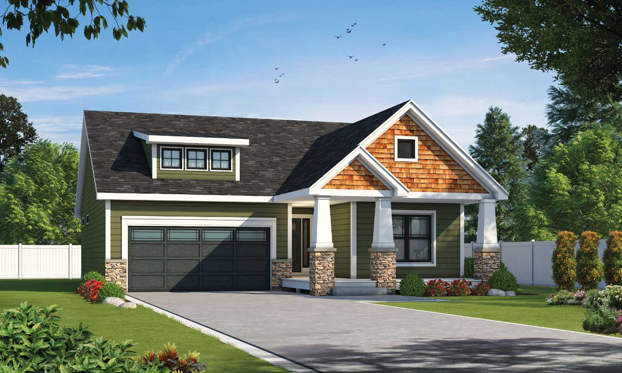 Craftsman Style House Plans Plan: 10-1936