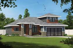 Contemporary Style House Plans Plan: 10-1947