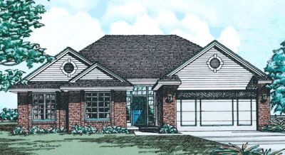 Traditional Style Home Design Plan: 10-204