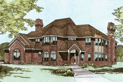 European Style House Plans Plan: 10-212