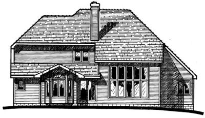 Rear Elevation Plan: 10-222