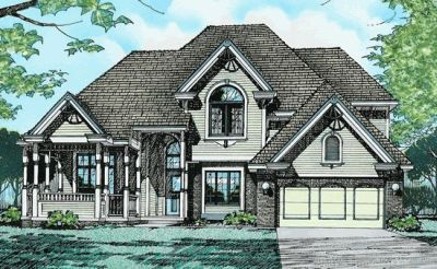 Victorian Style Home Design Plan: 10-223