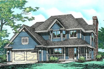 Country Style Home Design Plan: 10-228