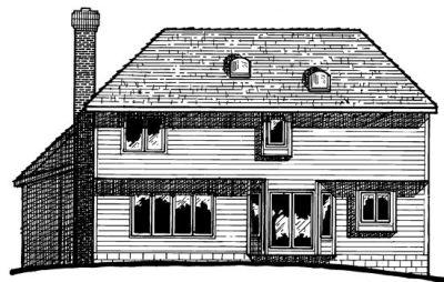 Rear Elevation Plan: 10-230