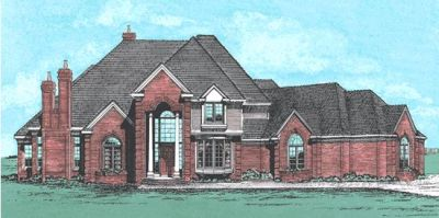 European Style House Plans Plan: 10-234