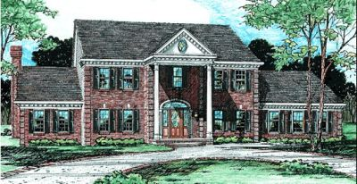 Southern Style Home Design Plan: 10-235