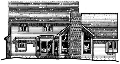 Rear Elevation Plan: 10-237
