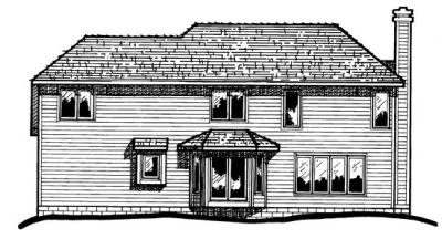 Rear Elevation Plan: 10-242