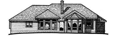 Rear Elevation Plan: 10-250