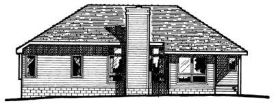 Rear Elevation Plan: 10-251